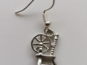spinning wheel earrings