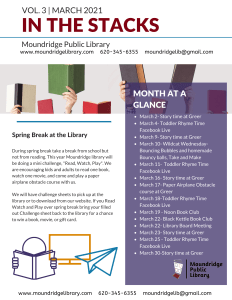 First page of March newsletter