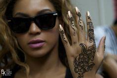 Beyonce tattoo henna
