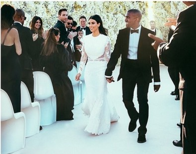 Foto Trouwjurk Kim Kardashian