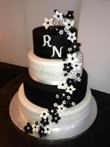 taart zwart en wit