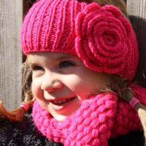 bontehoes roze haarband