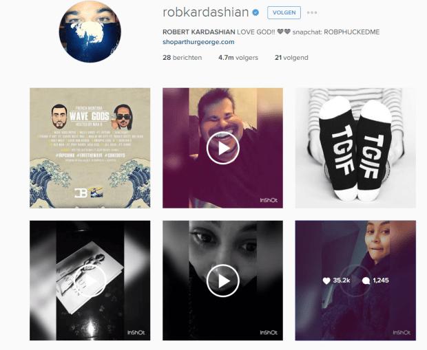 instagram rob kardashian