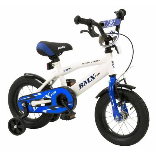 jogens fiets blauw wit