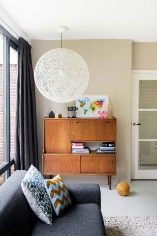 wereldkaart klein huiskamer