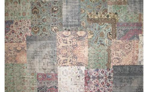 Vintage en pastel vloerkleed