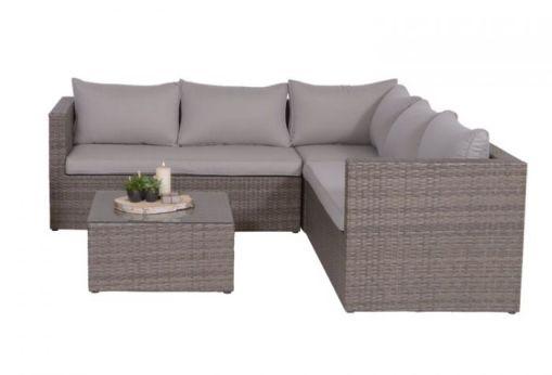 loungeset bruin grijs