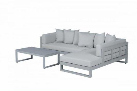 loungebak grijs hoek