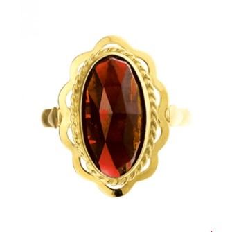gouden ring rode steen
