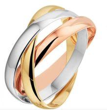 goud zilver rose ring