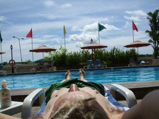 Laze at the hotel's pool
