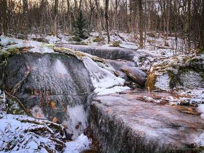 iced-up rocks
