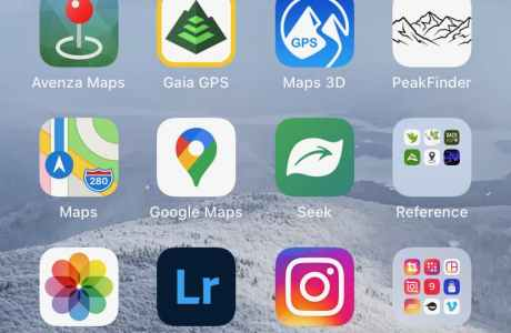 screenshot of best hiking iphone apps