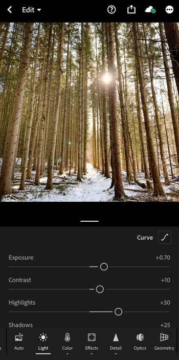 screenshot lightroom