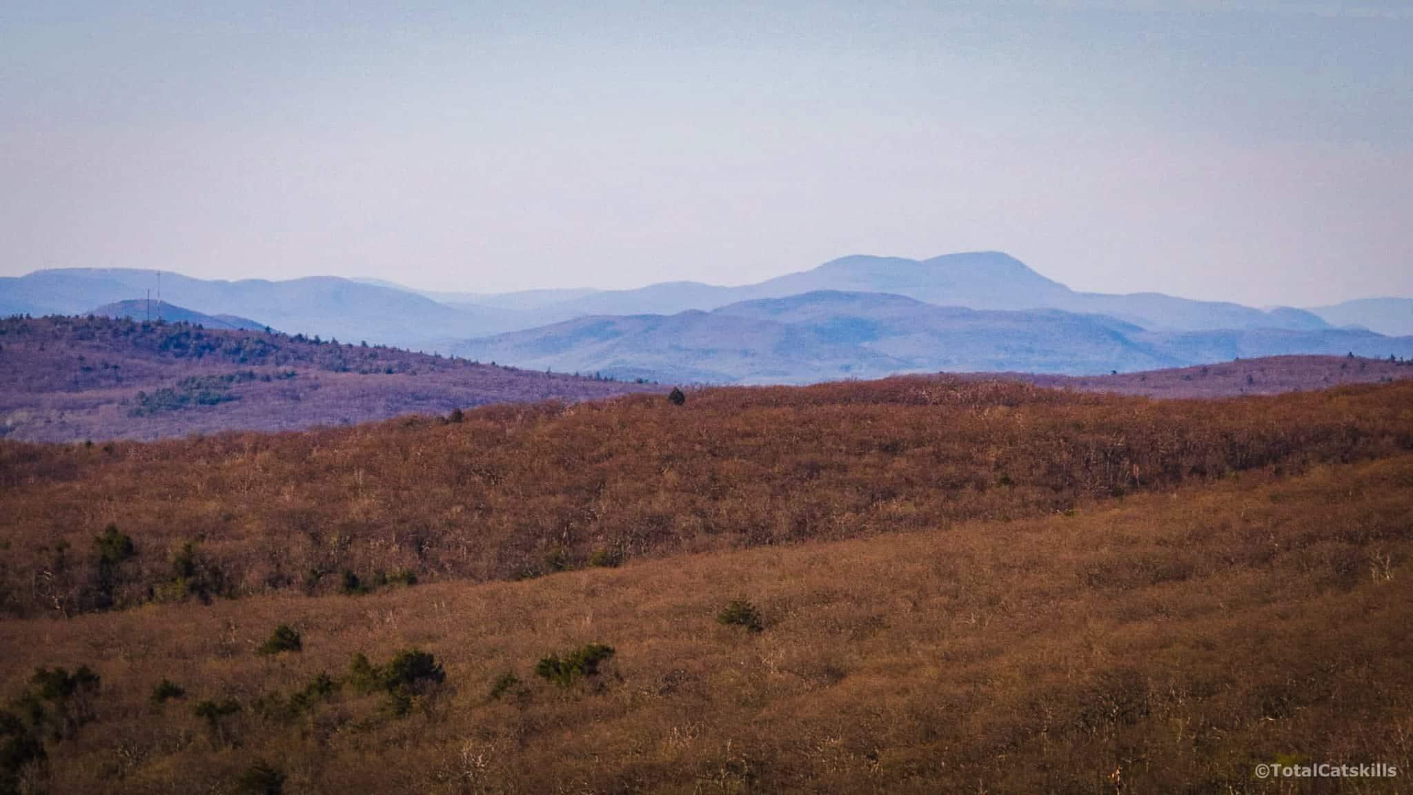 mountain range in distance