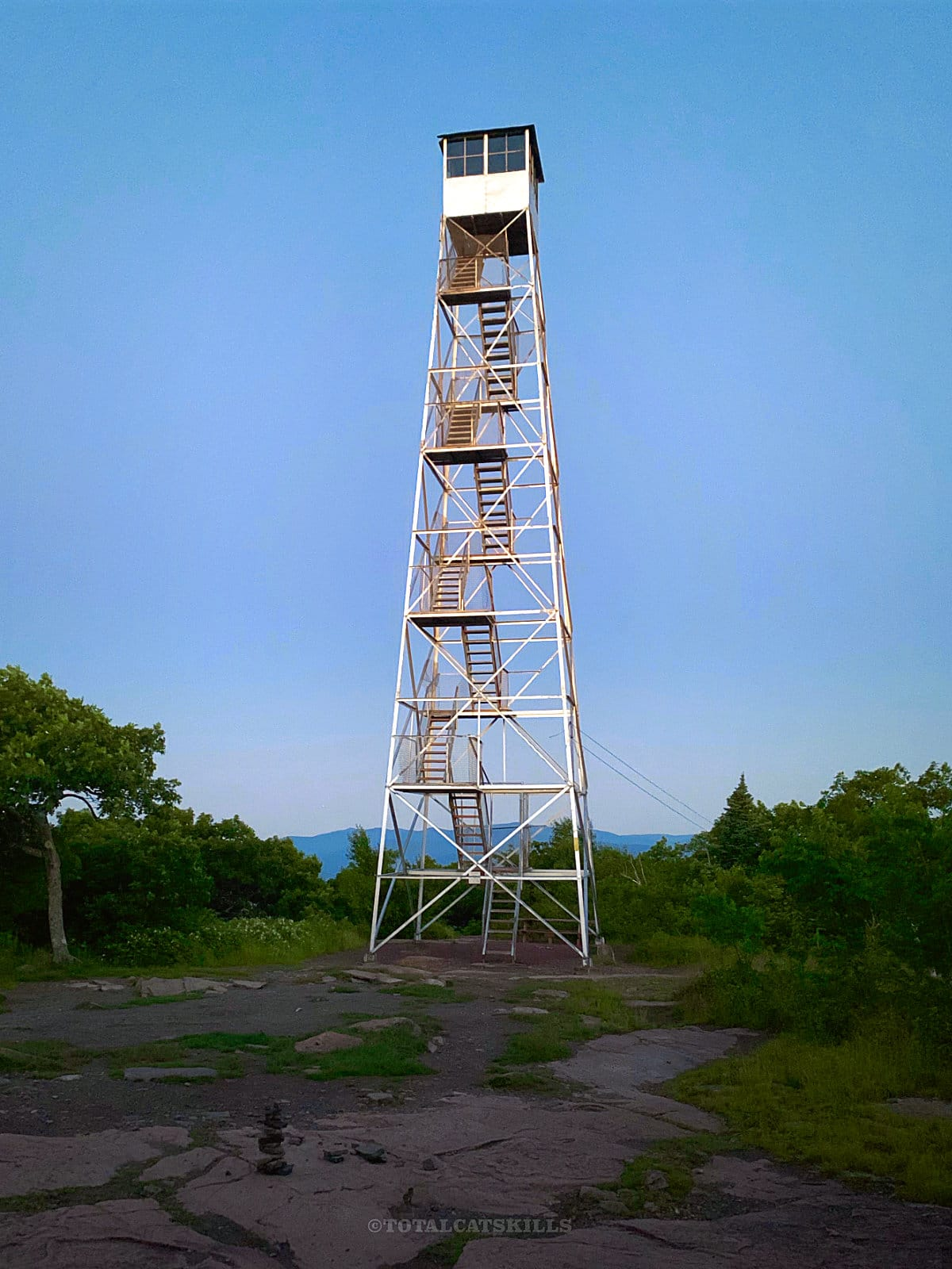 overlook mountain trail steel fire tower