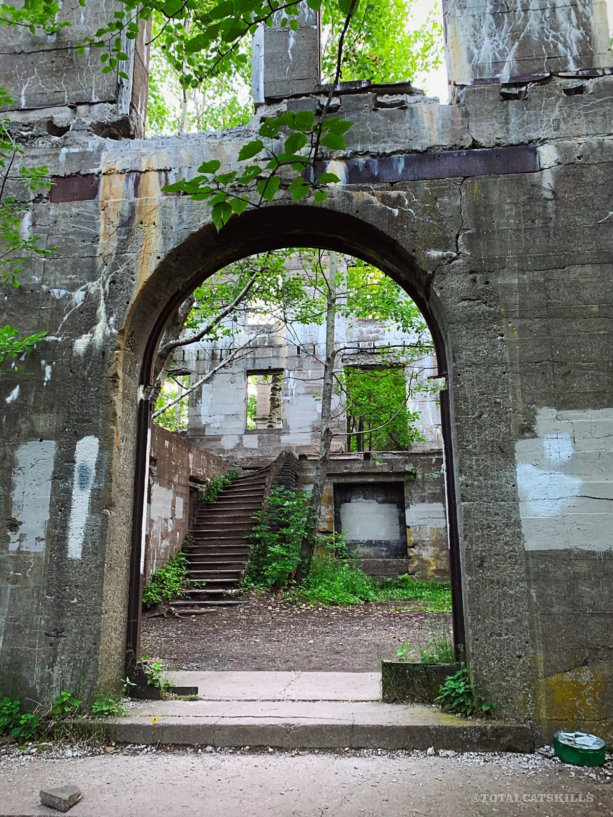 front door to ruins