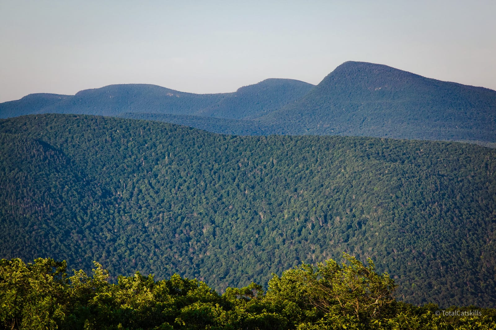 mountain peaks in distance