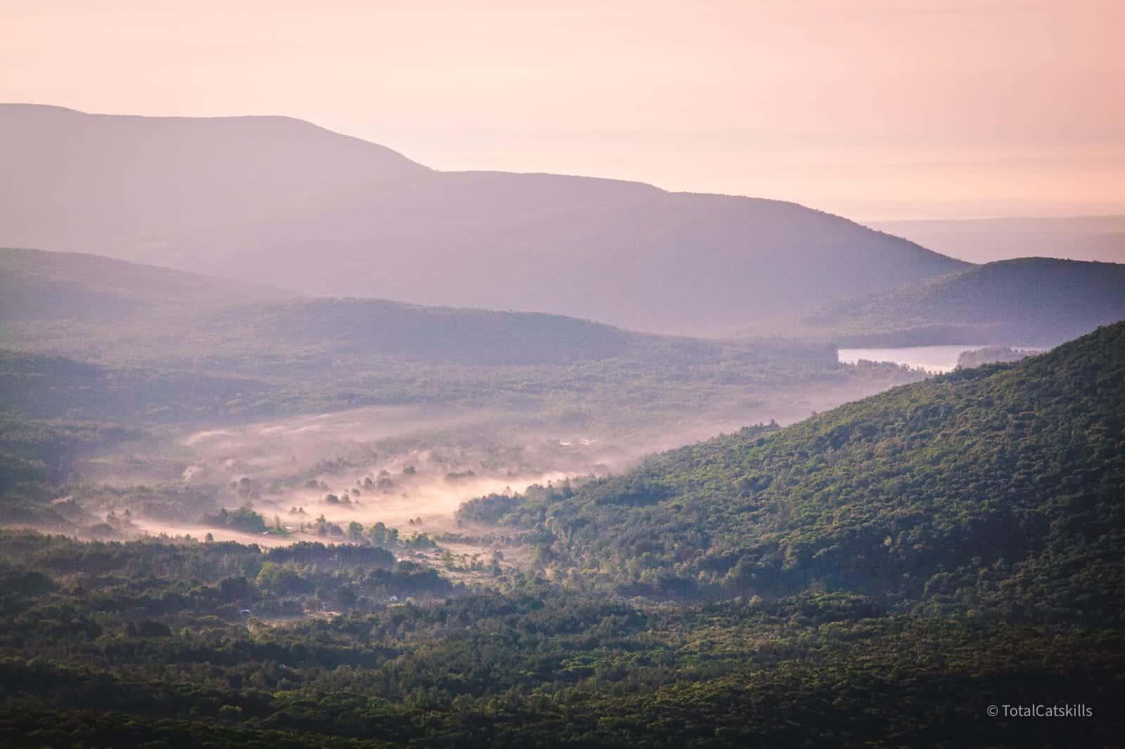 dawn mist in valley