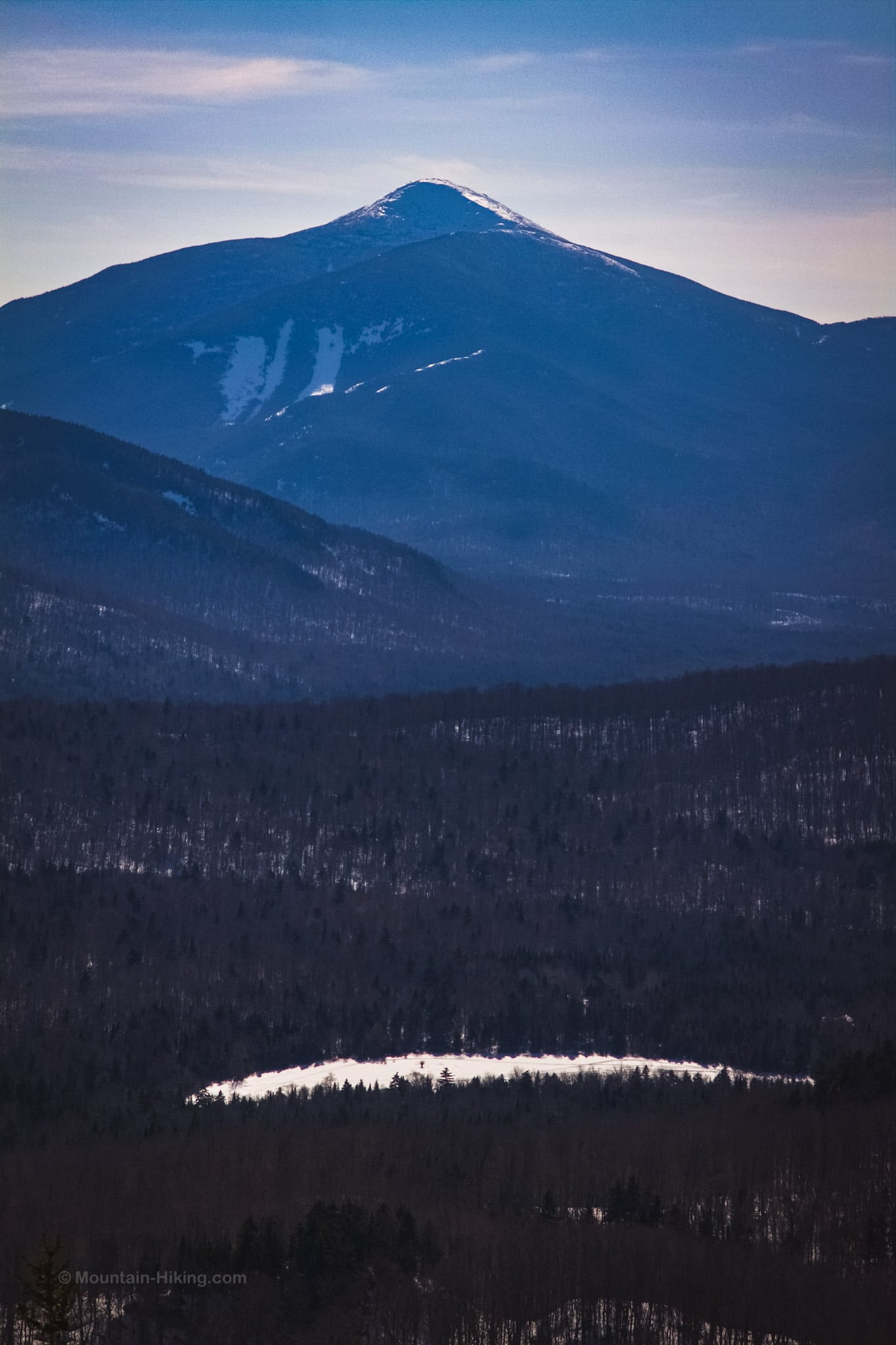 mountain summits in distance