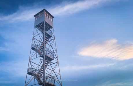 fire tower shot from below