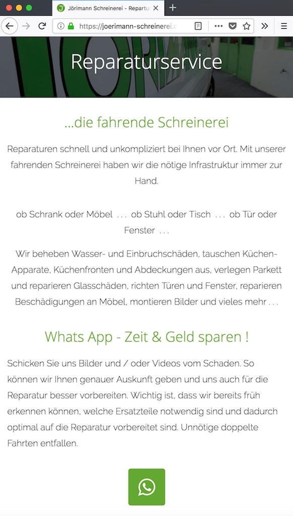 Whats-App Integration - Mountain Projects - Digitalisierung