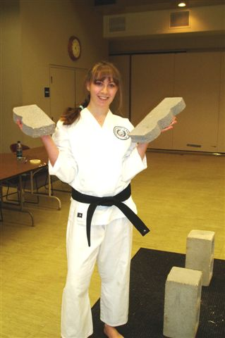 Juliana Rose Nicole, Black belt test September 2009