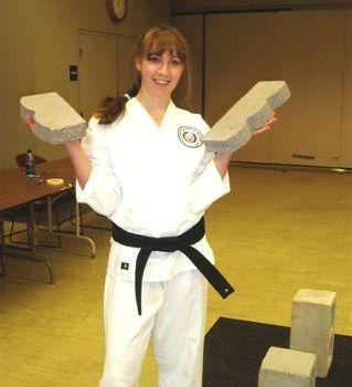 Juliana Rose Nicole, Black belt test September 2009