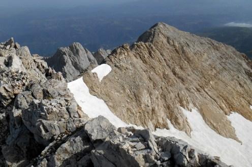 Close to the summit; Calderone and (in the background) Corno Piccolo