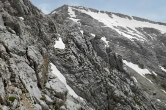 West ridge of Corno Grande from the normal route to Corno Piccolo