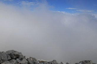 Clouds breaking