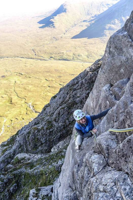 Rock Climbing - Engineer's Crack, Buachaille Etive Mor