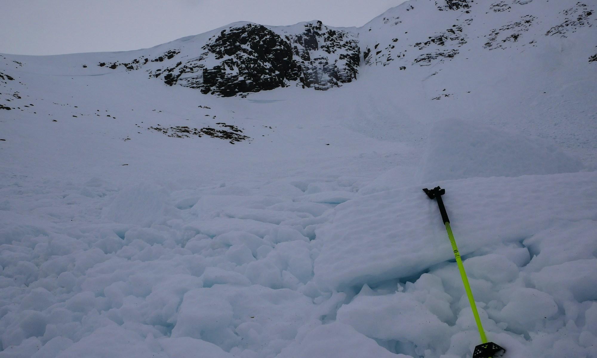 Avalanche in Coire an t-Sneachda