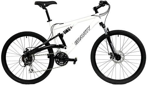 2017 Gravity FSX 1.0 Dual Full Suspension Mountain Bike with Disc Brakes