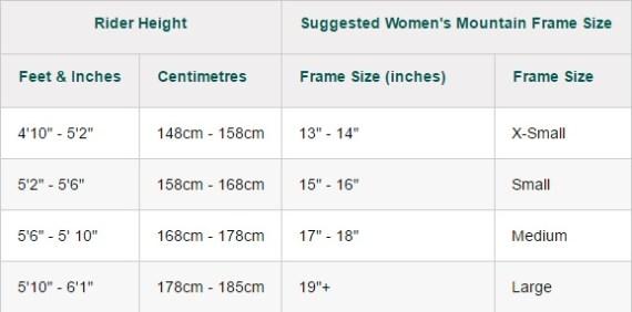 mountain bike size