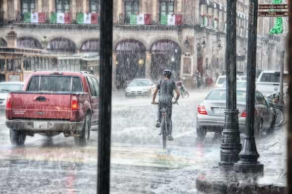 biking in rain