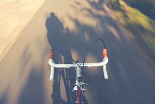 no hands biking