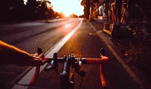 one hand biking