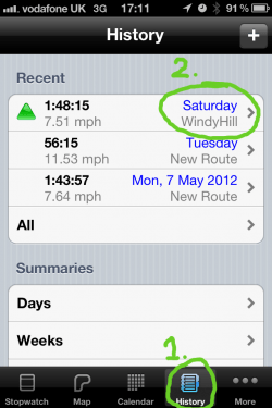 Find your ride on Cyclemeter