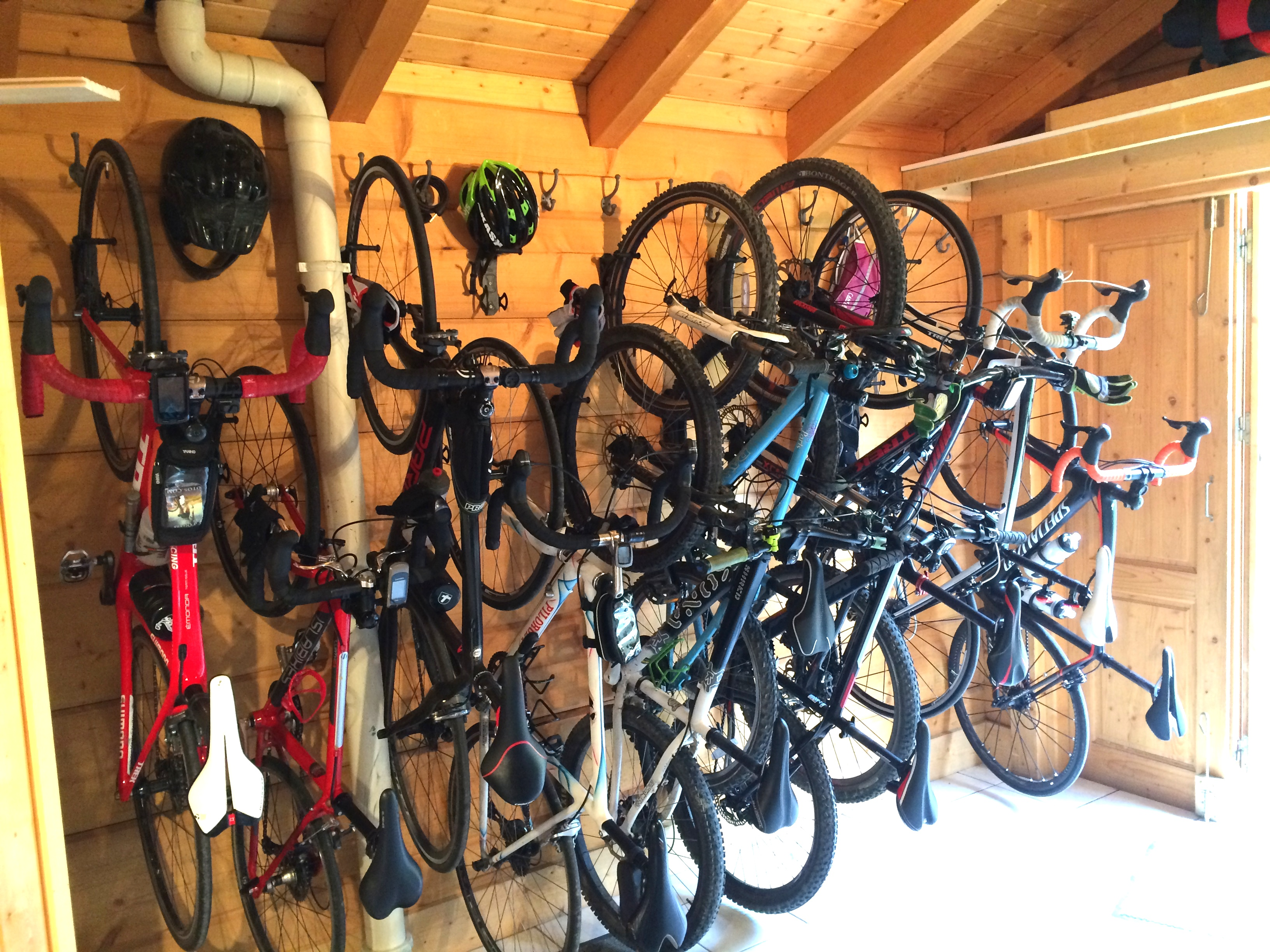 Boot Room full of Bikes