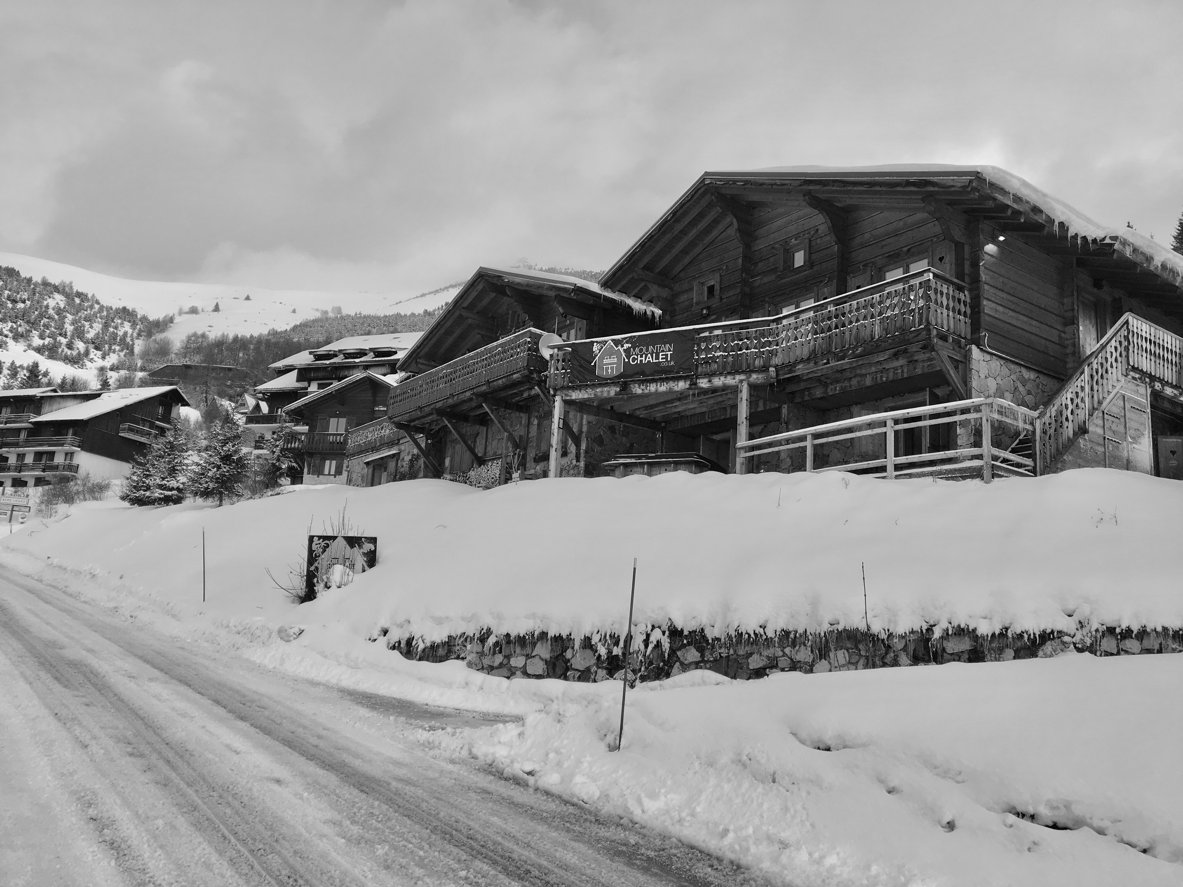 Front of Chalet B & W