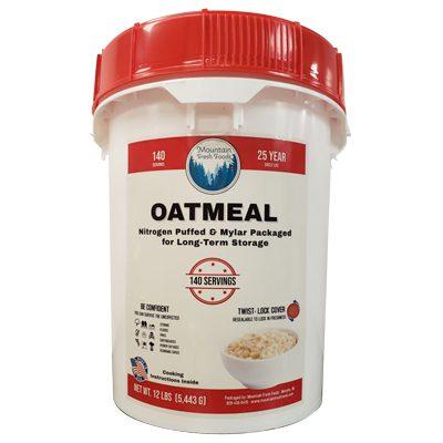 Mountain Fresh Foods 12 Lbs of Oatmeal bucket
