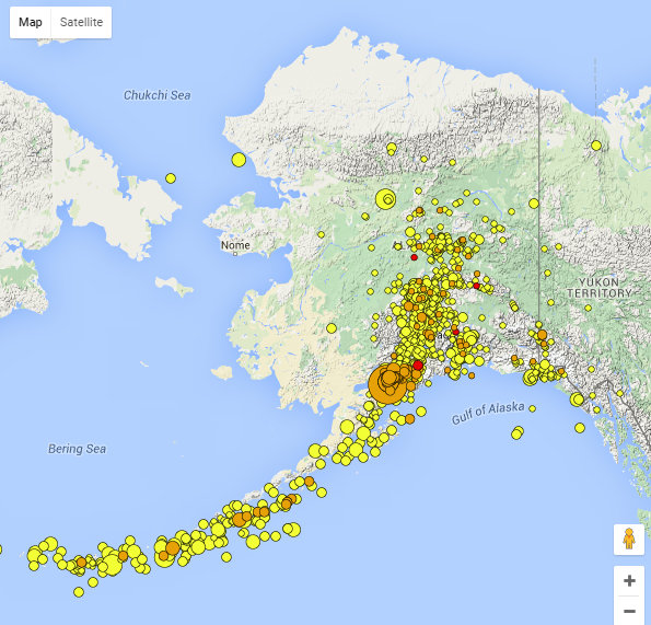 Details Of Magnitude 7.1 Iniskin Earthquake ~ By Ian Dickson Alaska Earthquake Center