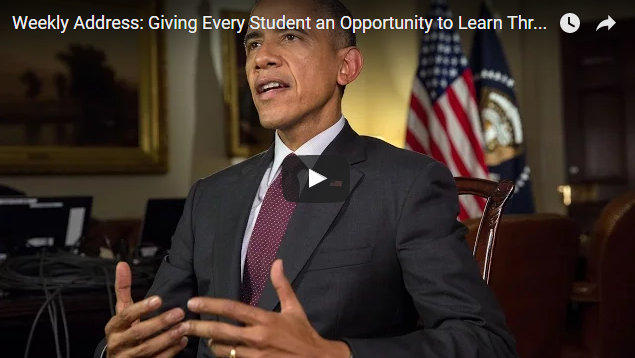 President Obama's Weekly Address: Giving Every Student an Opportunity to Learn Through Computer Science For All