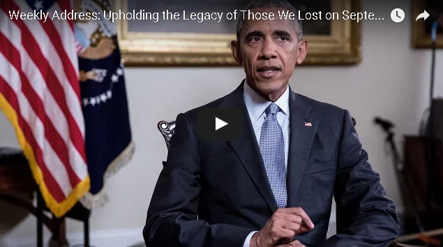 Presidential Weekly Address: Upholding the Legacy of Those We Lost on September 11th