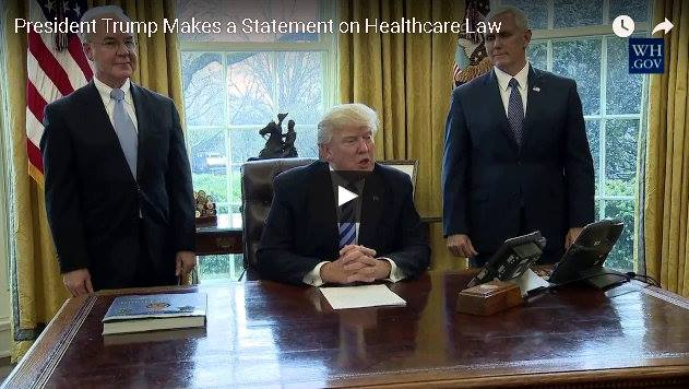 President Trump On Health Care Bill Falling Short