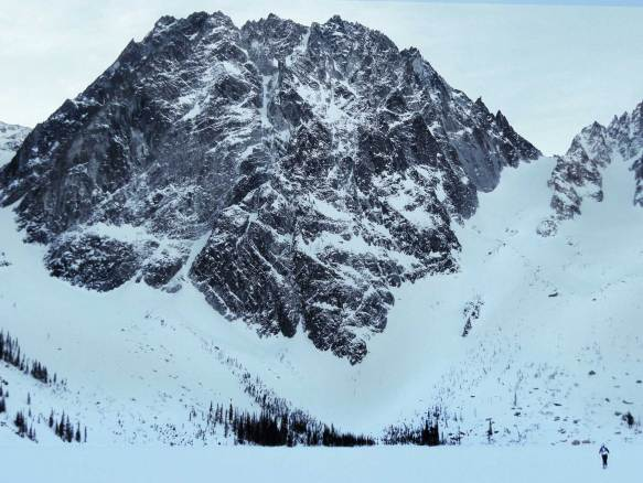 Dragontail Peak in Winter
