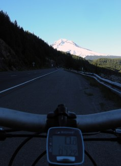 Bike to mt hood, highway shoulder