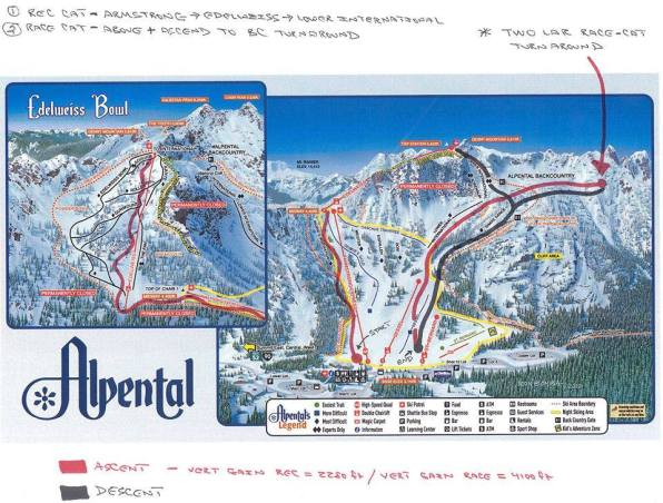 Subaru vertfest Alpental course map
