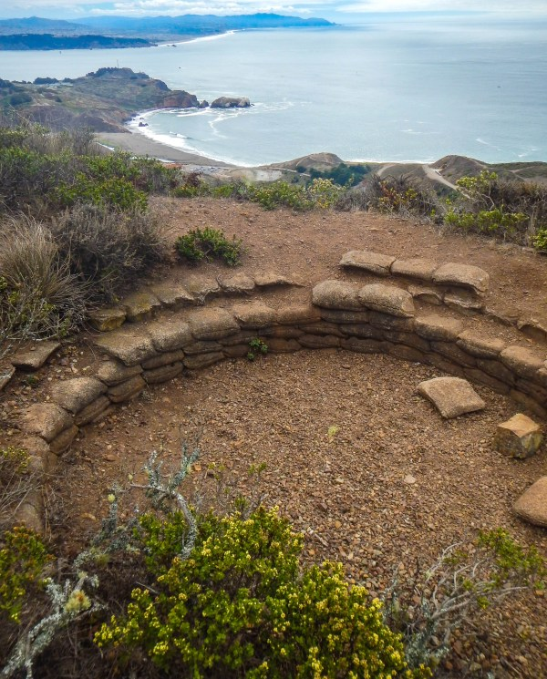 A hilltop position along the Marin Headlands, ready to spot the invading Soviets.